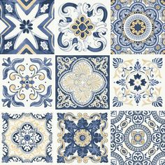 tile with retro charm. - Décor details -Porcelain tile with retro charm. Tile Art, Mosaic Tiles, Decoration Bedroom, Tiles Texture, Portuguese Tiles, Decoupage Paper, Retro Home Decor, Tile Patterns, Pattern Designs