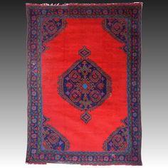 "Antique Turkish Oushak Rug WIDTH 79"" (200 cm) LENGTH 114"" (290 cm) 20th Century"