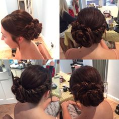 Hair up style.....