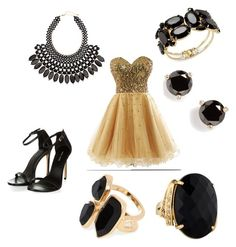 Prom Outfot by elli-jane-xox on Polyvore featuring Thalia Sodi, River Island, H&M and Kate Spade