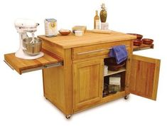 Easy On The Eye Rolling Kitchen Cart: Simple Kitchen Island Cart For Small Kitchen Design Ideas. Kitchen Cart With Storage, Granite. Portable Kitchen Island, Rolling Kitchen Island, Kitchen Island Cart, Kitchen Trolley, Kitchen Islands, Kitchen Cabinets, Kitchen Island On Wheels With Seating, Blue Cabinets, Shaker Cabinets