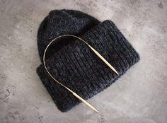 DIY: CHUNKY BEANIE (OIKEASTI CHUNKY) Knitting Patterns, Sewing Patterns, Crochet Patterns, Crochet Home, Knit Crochet, How To Purl Knit, Knitting Accessories, Couture, Knitting Designs