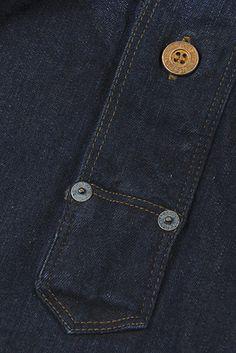 Levis® Vintage Clothing | 1874 Closed Front Jumper Vintage Soul, Vintage Men, Camisa Polo, Denim Fashion, Fashion Hats, Fashion Ideas, Vintage Outfits, Vintage Clothing, Denim Fabric