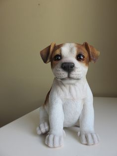 JACK RUSSELL PUPPY 6.5 IN. DOG SITTING
