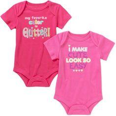 Garanimals Newborn Baby Girl Attitude Bodysuits, 2-Pack - Walmart.com