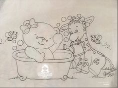 Art Drawings For Kids, Cute Animal Drawings, Tole Painting, Fabric Painting, Hand Embroidery, Embroidery Designs, Coloring Books, Coloring Pages, Cute Fantasy Creatures