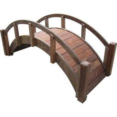 SamsGazebos 29 in. Miniature Japanese Wood Garden Bridge - Treated-MB-DM-T - The Home Depot