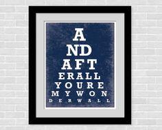 Eye Chart art print  8 x 10 poster  Modern Home by PopArtPrints, $10.00
