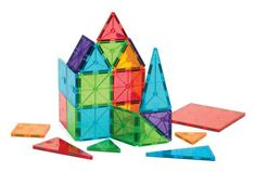 Discount School Supply - Magna-Tiles® Clear Colors - 32 Pieces