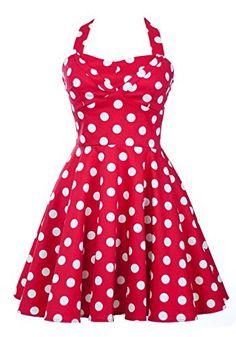 Ixia Polka Dot A-line 50s Pinup Dress-Red-Medium Ixia http://www.amazon.com/dp/B00EYN6EZO/ref=cm_sw_r_pi_dp_065Eub01DYE76