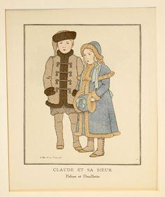 Kinder Children Young Mode Fashion Print  Gazette du Bon Ton   Original um 1913