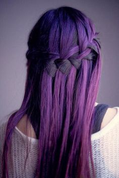 Love this purple!! Doubting whether I should dye my hair blue or purple... #purple #dyed #hair