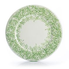 """Amoretti Brothers~ Leaves Outline Charger Plates, 11.4"""", set of 4."""