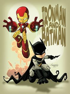 Billionaire Boys by Jon Sommariva     Batman and ironman kids. Art by me! :)Thanks for the share monkey!J.