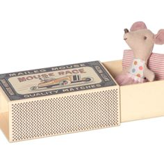 Little Sister Mouse with Tutu in Box by Maileg
