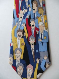 Silk Necktie Chicago Board of Trade, Novelty Necktie, Commodities Tie, Cartoon Novelty, Business Casual, Casual Friday, Unused, Gift for Him by TomCatBazaar on Etsy