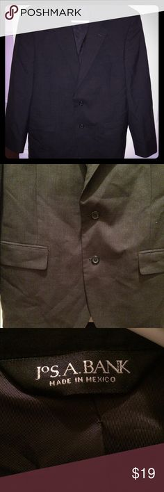Jos. A. Bank Dark Gray Suit Jacket Great condition - it was custom made for my husband so I am not sure the exact size Jos. A. Bank Suits & Blazers Suits