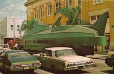 Pre-1971 WDW production pics: Nautilus Sub on its way to the 20,000 Leagues attraction