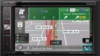"Pioneer AVIC-6201NEX In-Dash Navigation AV Receiver with 6.2"" WVGA Touchscreen Display Included BC-ND8 Back Up Camera"