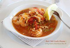 Red Chili Garlic Prawns at Fog Harbor Fish House Pier 39