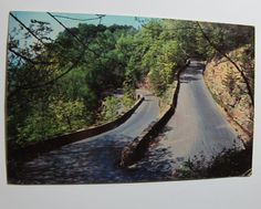 "1964 Postmarked Postcard Signal Mountain ""W"" Road, Chattanooga, Tennessee"