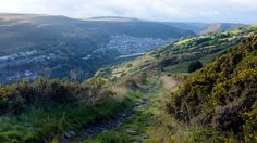 Looking towards Ferndale, Rhondda Cynon Taf, with Maerdy in the distance, by Simon Rees, of Thomastown.