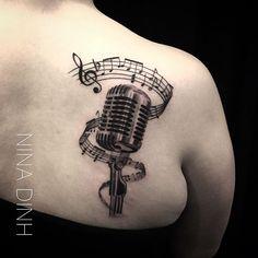 Charming tattoo by Nina Dinh.