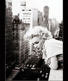 Marilyn Monroe Smoking on Balcony Classic Hollywood Actress Celebrity Icon Poster Print 1620
