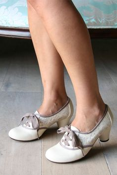 These remind me of my mom's wedding shoes.