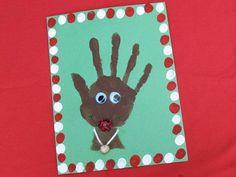 Handprint rudolph