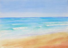 Waves, watercolour painting