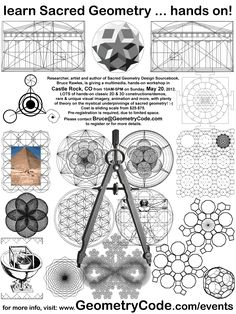 Castle Rock Colorado Sacred Geometry Workshop Flyer - 20 May 2012
