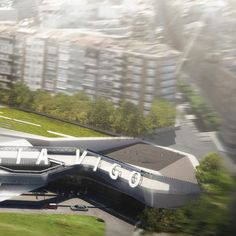 Buzz happening around our project in Vigo Spain this week! A new high-speed rail and commercial hub for the city connecting the Galician coast to Madrid Porto and beyond. Vialia Vigos narrow site negotiates a 55ft (17m) drop in elevation sloping from a residential area down towards Vigos city center to the north. The undulating roof-scape extends from the street to become a public plaza whose surface folds downward to reveal the atrium at the heart of the station. In one broad architectural…