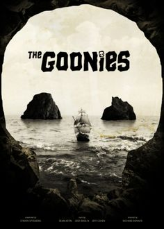 awesome goonies movie poster re-imagned