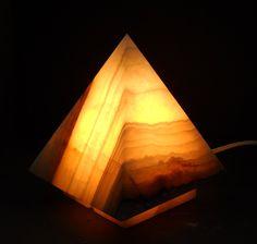 Pyramid Onyx Lamps. DIY make with resin?