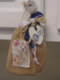 Small Jute Burlap Gift Bag