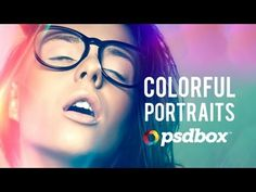 this video shows how to use the colorful adjustments and affects of photoshop