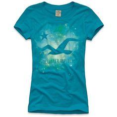 Hollister Co Bluebird Beach Shine T-Shirt ($20) ❤ liked on Polyvore
