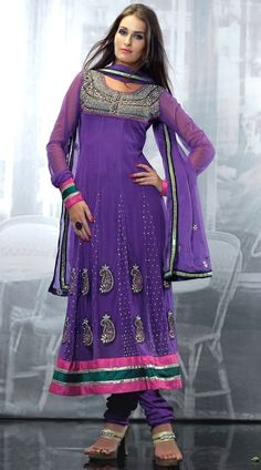 RB443204B Gorgeous Light Purple Faux Georgette Salwar Kameez - IndiaBazaarOnline Shopping Store - Shop with confidence