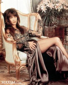 Relaxing in a fancy chair is listed (or ranked) 19 on the list The Hottest Sophie Marceau Pics