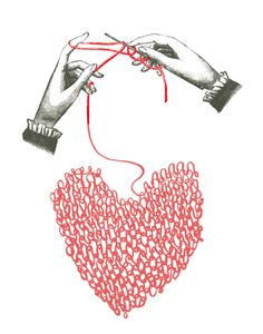 Put your heart into your knitting.