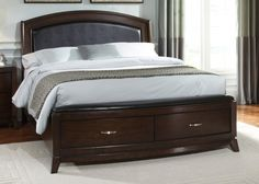 Liberty Avalon Queen Leather Storage Platform Bed