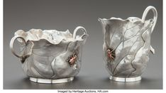 America's Auction House Fine Art Auctions, American Indian Art, Glass Holders, Cream And Sugar, Tribal Art, Mixed Metals, Metal Working, Antique Silver, Bronze