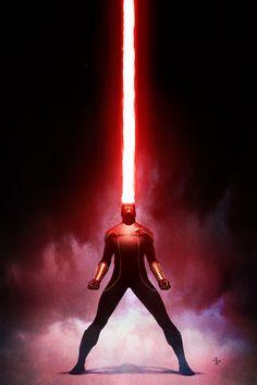Artwork for cover of X-Men Origins: Cyclops #1. January, 2010. Art by Adi Granov.