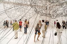 Tomás Saraceno - 'Galaxies Forming Along Filaments, Like Droplets Along the Strands of a Spider' Installation