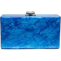 Edie Parker Jean Solid Acrylic Clutch Bag ($950) ❤ liked on Polyvore featuring bags, handbags, clutches, ocean, acrylic handbag, acrylic purse, acrylic clutches, edie parker handbags and blue purse