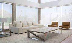 Salones de diseno - Mesa centro Carlota, BALTUS - Tapa en rustico, diferentes acabadoso tapa en cristal lacado y pies en aluminio brilloMedida 220 x 110 x 40h
