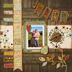 Count Your Blessings - FALL ** Scrapbookit ** - Scrapbook.com I really like the word strip and clock ideas here!