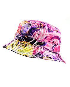 Anjoy Fashionable Unisex Satin Lined Printed Pattern Cotton Bucket Hat