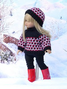 Olympia doll sweater knitting pattern for american girl dolls